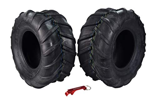 Kenda Tires Lawn and Garden Rear Mower Tires for Grasshopper Mowers with Bottle Opener Key Chain (22x11-10 2 Pack)
