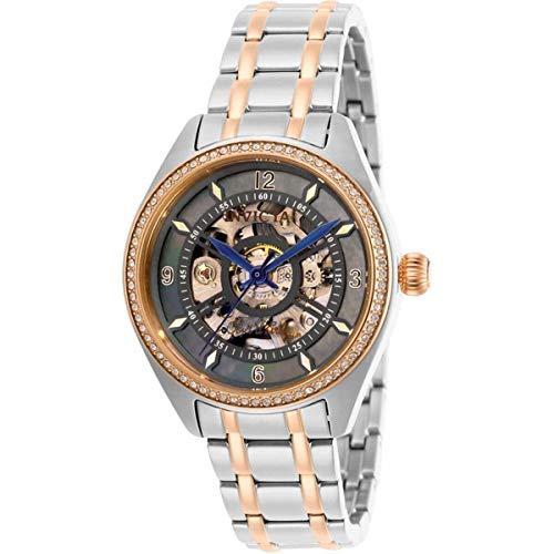 Invicta Objet D Art 26359 - Reloj automático para mujer, esfera negra y cristal