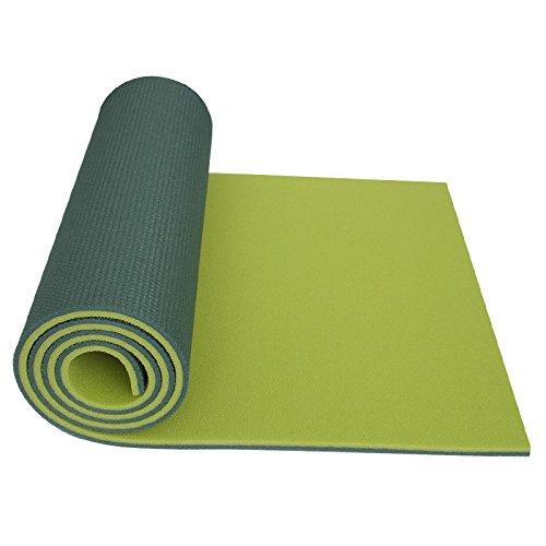 Yate doppelte Dicke Schaumstoff Campingmatte Gymnastikmatte Aerobic Yoga 180 x 50 x 10 hellgrün/dunkelgrün, auch als Isomatte fürs Camping, sehr robust