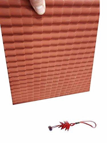 Generico Tetto plastica Impermeabile tegole 35x50 cm Circa tegole 20x15 mm Miniature presepe Crib per PASTORI PRESEPE Artigianali Gia Omaggio Portachiavi AMULETO
