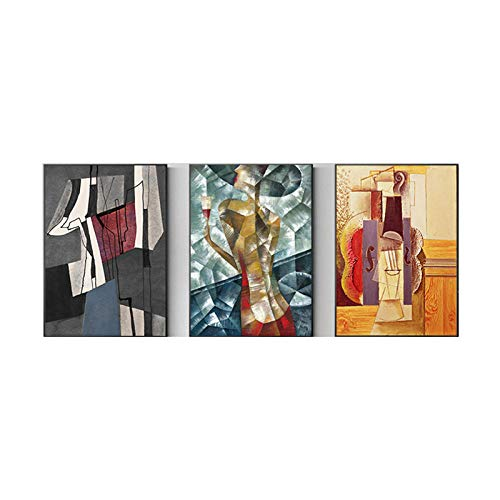 Abstract Wall Decor Picasso Famous Painting Replica Print Canvas Picture Modern Living Room Office Decor Geometry Art Posters 40x60cmx3 No Frame