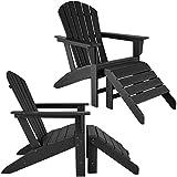 <span class='highlight'><span class='highlight'>TecTake</span></span> 800819 2x Garden chair with footrest (Black)
