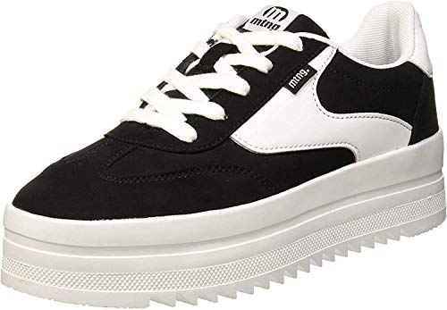 MTNG Attitude Damen 69550 Sneakers, Schwarz (Softy Negro/Action Pu Blanco C39788), 39 EU