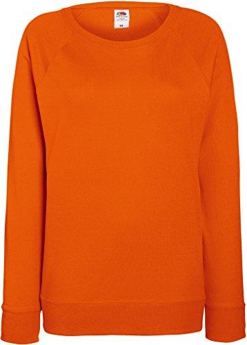 Damen Lightweight Raglan Sweat - In vielen tollen Farben Farbe Orange Größe L