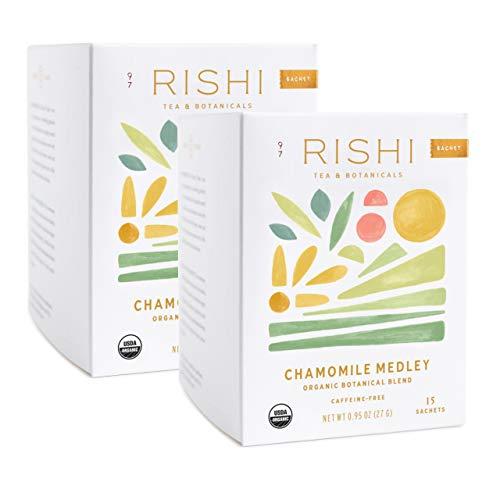 Rishi Tea Chamomile Medley Herbal Tea   Immune Support, USDA Certified Organic, Fair Trade Botanical Blend, Antioxidants, Caffeine-Free   15 Sachet Bags, 0.95 oz (Pack of 2)