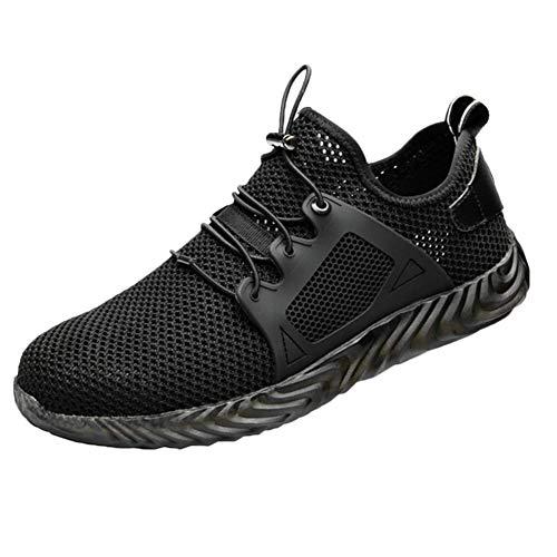 Suppyfly heren onverwoestbare schoenen Ryder Steel Toe Boot Veiligheid Military Work Sneakers, 1 (zwart) - 2uh0kg0jr5cr6rp0D09