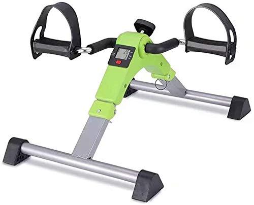 ZHENG Bicicletas Estáticas Pedal Casero Portátil con Pantalla Digital con Resistencia Ajustable Mini Bicicleta Estática Plegable (Color : A)