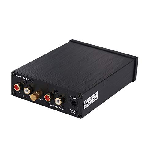 Docooler FX-Audio BOX01 Mini MM FONOGRÁFICO Cartucho Preamplificador HiFi AMP Amplificador de música para Reproductor de Discos de Vinilo
