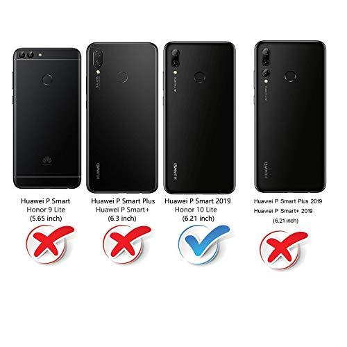 Mulbess Handyhülle für Honor 10 Lite Hülle, Leder Flip Case Schutzhülle für Huawei P Smart 2019 / Honor10 Lite Tasche, Vintage Braun - 2
