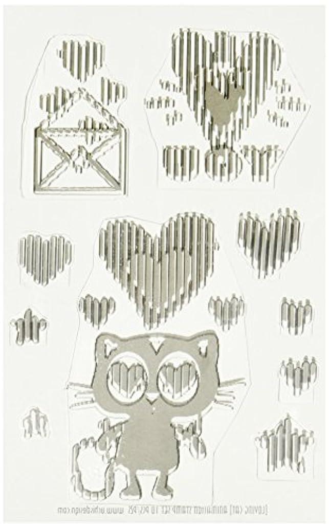 American Crafts 346504 Loving Cat Stamps, Black
