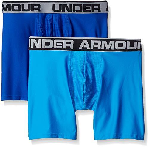 Under Armour Men's Original Series 6-inch Boxerjock Boxer Briefs-2 Pack , Royal (401)/Brilliant Blue , X-Large