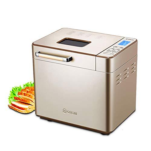 Automatische Broodmachine 25 Programma's Broodmachines Met Warmtebehoud, Afspraak, Uitschakelfunctie Geheugenfunctie Deeg Keukenmachines LCD Touch Screen Control