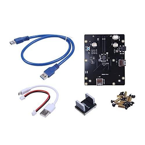 Slscyx Für Raspberry Pi 2.5 SATA HDD/SSD-Speichererweiterungskarten, X820 V3.0 USB 3.0 Mobile Festplattenmodul für Raspberry Pi 3 Modell B + / 3b