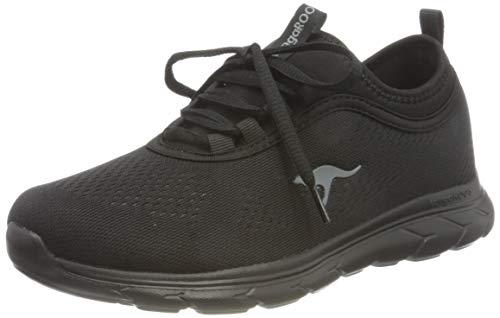 KangaROOS Damen KN-Run Neo Sneaker, Jet Black/Mono, 39 EU