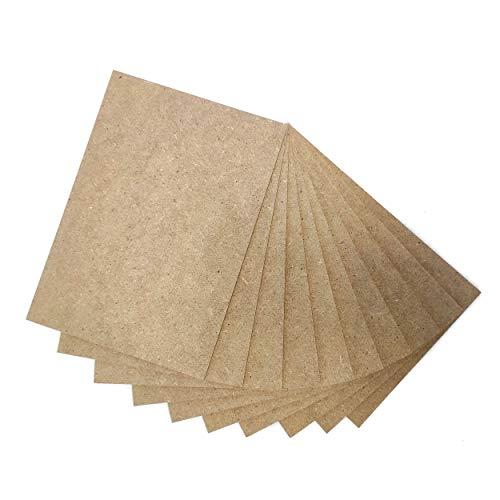 MOBIL-IO Lot de 10 feuilles de papier MDF A3 (42 x 29,7 cm x 2,5 mm) +/- 0,5 mm | Panneau MDF adapté pour traçage manuel, pyrographe, modélisme, découpage, machine à découper au laser et CNC (A3, 10)