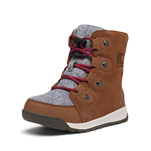 Sorel Youth Unisex - Youth Whitney II Suede - Waterproof - Heavy Snow - Brown Flora - Size 1