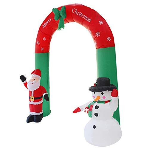 YUNZUN Arco Inflable De Navidad, 8 Pies De Papá Noel Y...