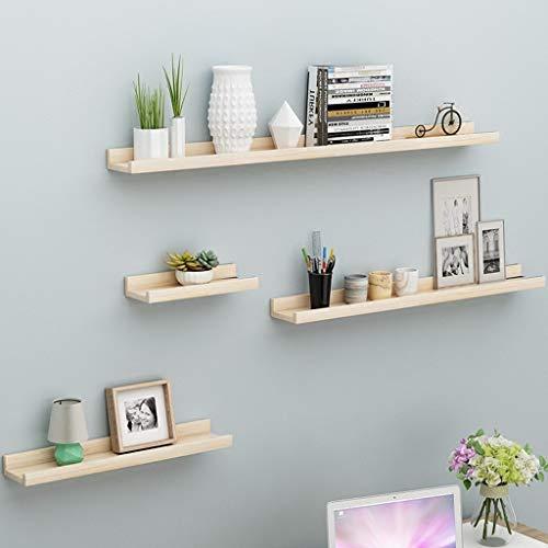 YYK Home rek van hout, drijvende wand, 4 maten, plank, woonkamer, kantoor