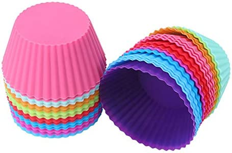 Silicone Baking Cups Reusable and Non stick Standard Size Cupcake Holder Cake Molds Baking Cups product image