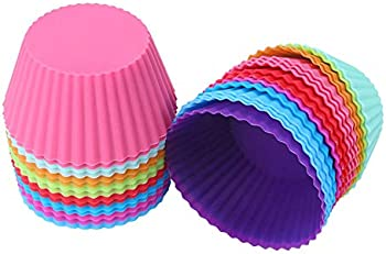24-Pack Cathylife Reusable and Non-stick, Standard Size Cupcake Holder
