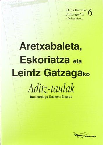 Aretxabaleta, Eskoriatza Eta Leintz Gatzagako Aditz-Taulak