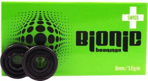 Cuscinetti svizzeri Bionic Bionic Green Skate Bearings - 8 mm - by Atom Wheels