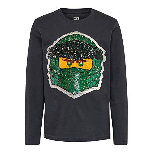 LEGO Jungen CM-50405-T Shirt L/S Langarmshirt, Grau (Dark Grey 965), (Herstellergröße: 104)
