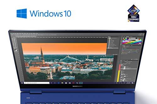 Samsung Galaxy Book Flex Notebook (Intel 8 Go de RAM, 256 Go SSD, S Pen, Windows 10 Home) Bleu Roi 13 Bleu Marine