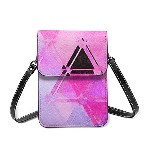 Bolso de hombro para niñas con diseño de pastel de aceite para dibujar en colores abstractos para teléfono móvil con ranuras para tarjetas, 88 pinceladas de pintura de acuarela grandes, Talla única