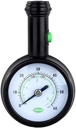Slime 20486 Elite Dial Tire Gauge with Pressure Lock Technology 5 60 psi product image