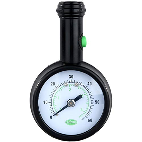 Slime 20486 Elite Dial Tire Gauge with Pressure Lock Technology (5-60 psi)