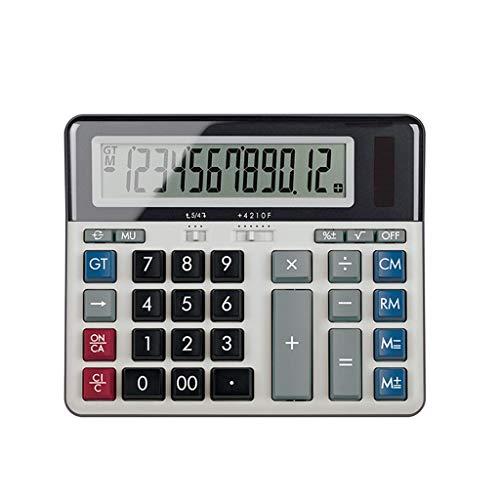 Calculadora Desktop Science Calculator Office Business Finance Calculadora de Pantalla Grande Dual Power Electronic Calculator Calculadora de Escritorio