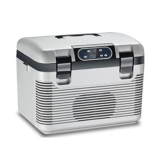 HALIGHT Refrigerador Portátil, 20 Cuartos (19L) Refrigerador Congelador Automóvil, Refrigerador Eléctrico Autocaravana, para vehículos, Uso doméstico, Camping, Viajes - 12V / 24V DC y 220V AC