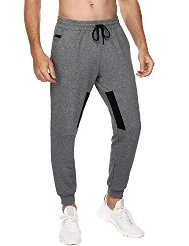 Sykooria Verano Jogging para Hombre Pants,Pantalones Deportivos Hombres Joggers Largos, Pantalones de Deporte para Hombre, Pantalones Chándal de Algodón, Pantalones Casual Deporte Slim Fit Elástica