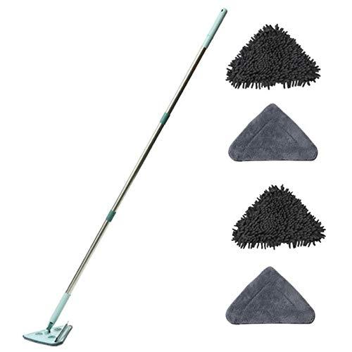 succeedw Fregona limpia, fregona limpia triangular giratoria con recambios para la limpieza casera de la cocina