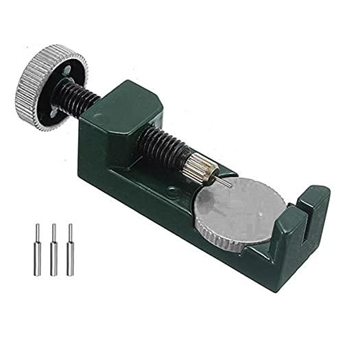 Correa de reloj removedor de cadena de reloj correa de enlace ajuste herramienta de reparación con mesa de elevación almohadillas de lijado redondas verdes
