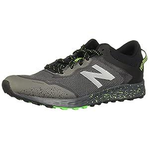 New Balance Kid's Fresh Foam Arishi V1 Lace-Up Trail Running Shoe, Lead/Black/Energy Lime, 7 M US Big Kid (8-12 Years)