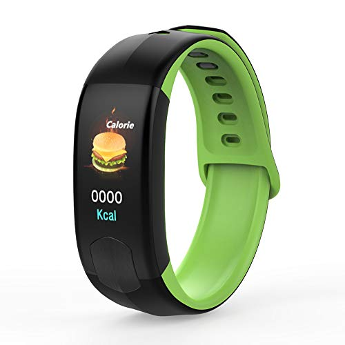 Kleur intelligente armband 1,08 inch scherm ondersteuning IP67 waterdicht inbouw-tracker meer sporten bericht melding hartslagbewaking activiteit, groen