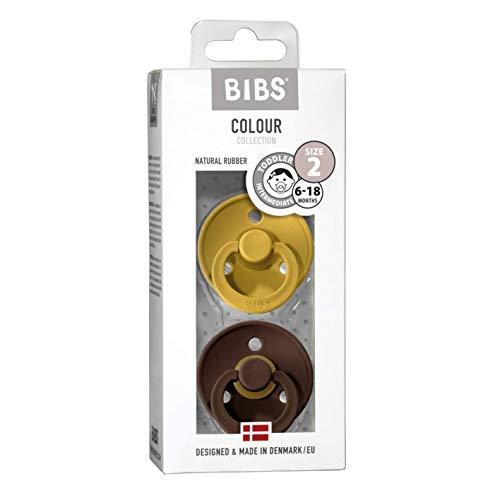BIBS Ciuccio Colour in gomma naturale danese a forma di ciliegia, confezione da 2 pezzi, misura 2 (6-18 mesi)