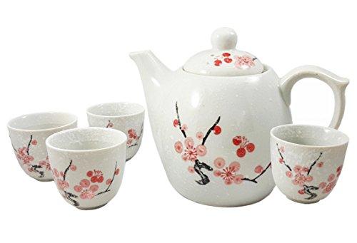 Happy Sales Porzellan-Teeservice Kirschblüte, Pink