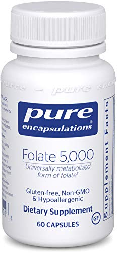 Pure Encapsulations - Folate 5,000 - Activated Vitamin B9 as 5-Methyltetrahydrofolate (5-MTHF) - 60 Capsules