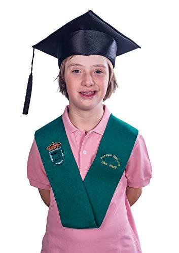 Birrete de graduación infantil y primaria - Negro, Primaria
