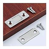 Calidad superior 10 unids/set Gabinete magnético Capturas Imán Puerta Puerta oculta Closer con tornillo for armario de armario DIY para cajón de armario de muebles, (Color : Silver)