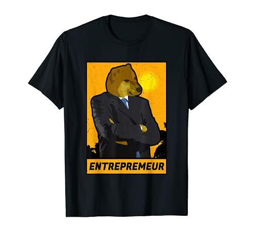 Emprendedor Stonks Cheems Shiba Inu Perro Dank Meme Hustler Camiseta