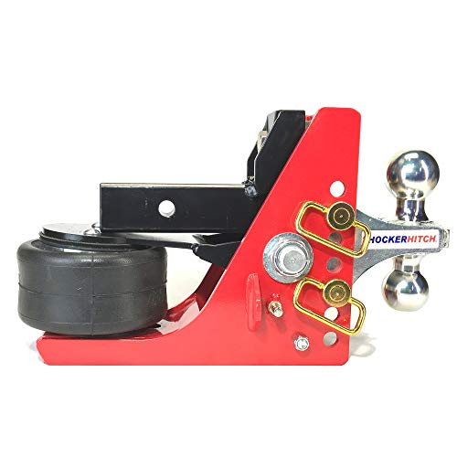 Shocker Air Hitch with Combo Ball Mount (2' & 2-5/16' Balls), Fits 2' Hitch - 12,000 lbs
