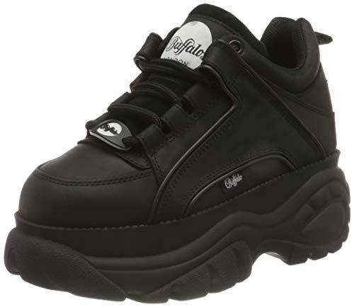 Buffalo London Damen Classics 2.0 Sneaker, Schwarz, 38 EU