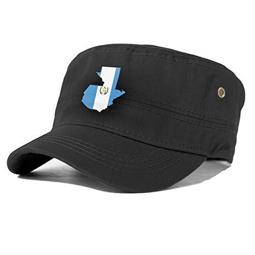 Sombrero de béisbol unisex de la bandera del mapa de Guatemala, 4 estaciones de la moda, unisex no es fácil de distorsionar.