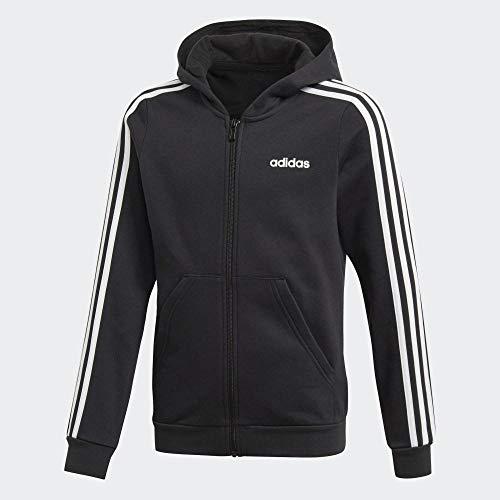 adidas Mädchen Hoody Essentials 3-Streifen Full Zip, Black/White, 152, EH6120