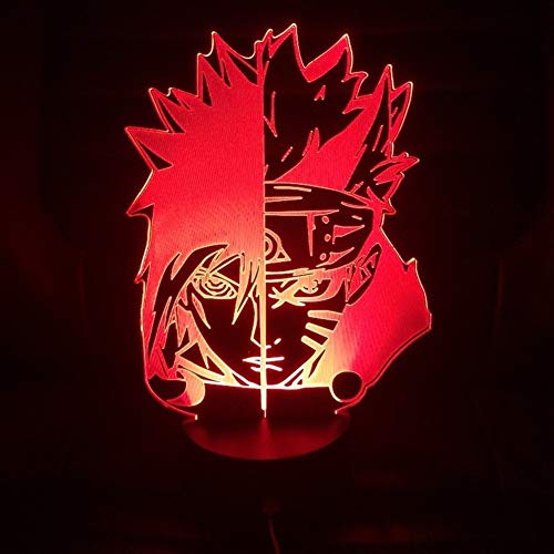LED Anime Night Light LED Night Light Cartoon Sakura Manga Japonais Anime Comic Amitié Lampe Veilleuse capteur 3D Lampe Lampe (Color : 7 Colors No Remote)