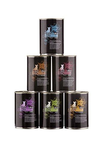 catz finefood Purrrr Monoprotein Katzenfutter nass Multipack, Känguru, Huhn, Lachs, Lamm, Schaf, Schwein Mix-Paket, 6 Dosen, 375g-400g
